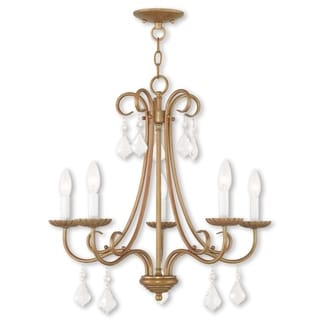 Livex Lighting Daphne Antique Gold-tone Steel 5-light Chandelier
