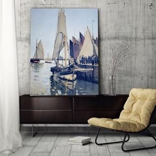 Claude Monet 'Sailing Boats at Honfleur' Wrapped Canvas Art