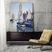 Claude Monet 'Sailing Boats at Honfleur' Wrapped Canvas Art