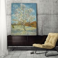 Wexford Home 'Peach Trees in Blossom' Wrapped Canvas Art