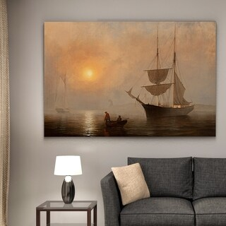 Wexford Home 'Ship in Fog, Gloucester Harbor' Wrapped Canvas Art