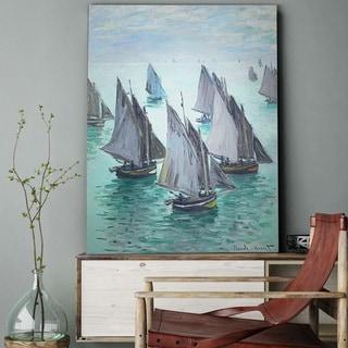 Wexford Home 'Fishing Boats, Calm Sea' Wall Art
