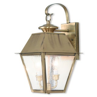 Livex Lighting Mansfield, 2 Lights, Outdoor Lantern
