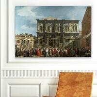 Claude Monet 'The Feast Day of Saint Roc' Canvas Art Print