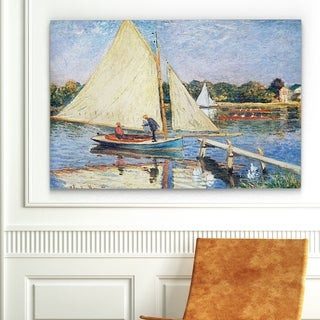 Claude Monet 'Boaters at Argenteuil' Reproduction Wall Art