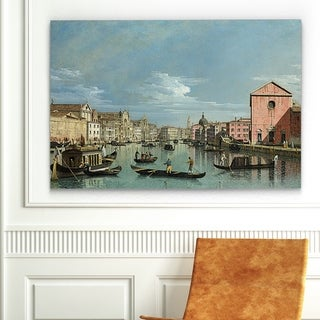 Claude Monet 'Venice - The Grand Canal facing Santa' Canvas Art Print