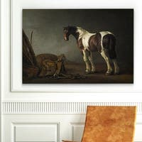 Wexford Home 'A Horse with a Saddle Beside it' Gallery-wrapped Canvas Art