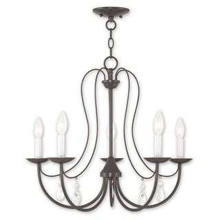Livex Lighting Mirabella Bronze Steel 5-light Chandelier