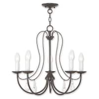 Livex Lighting Mirabella Bronze Steel 5-light Chandelier