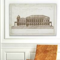 Wexford Home 'Architecture Sketch II' Canvas Wall Art