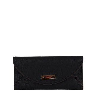 Nikky Raya Black Faux-leather Clutch Wallet