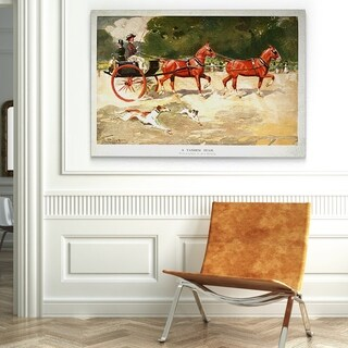 'Horse Drawn Coach - Alamy' Canvas Wall Art