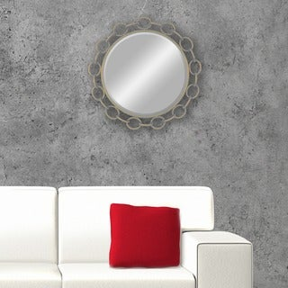 Champagne Metal Large Chain Link Mirror