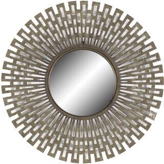 Decor Therapy Champagne Metal Geometric Design Mirror