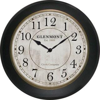 Decor Theraphy Glenmont Distressed Bronze Plastic 30-inch Arabic Clock
