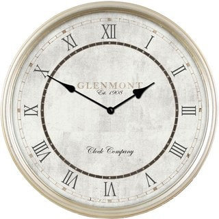 Champagne Metal 16-inch Deep Frame Clock
