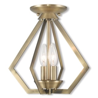 Livex Lighting Prism Antique Bronze Finish Steel 2-light Pendant