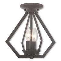 Livex Lighting Prism Brown Bronze Finish 2-light Pendant