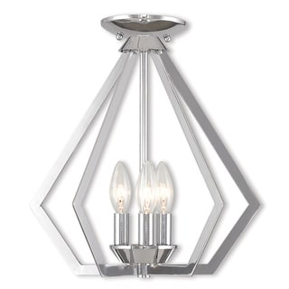 Livex Lighting Prism Silvertone Steel 3-light Pendant