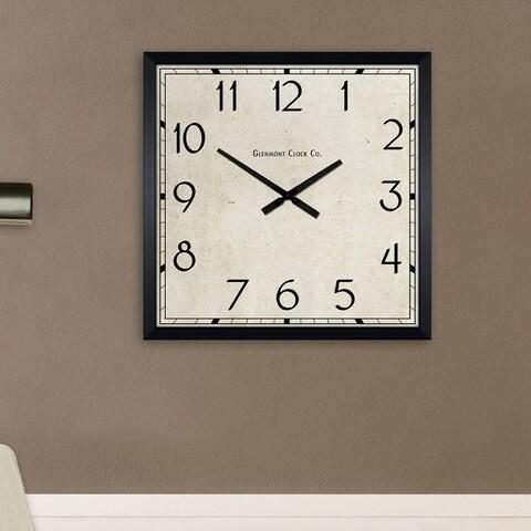 Decor Therapy Modern Black 28-inch Square Clock