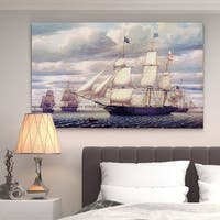Wexford Home 'Southern Cross Leaving Boston Harbor' Gallery-wrapped Canvas Art