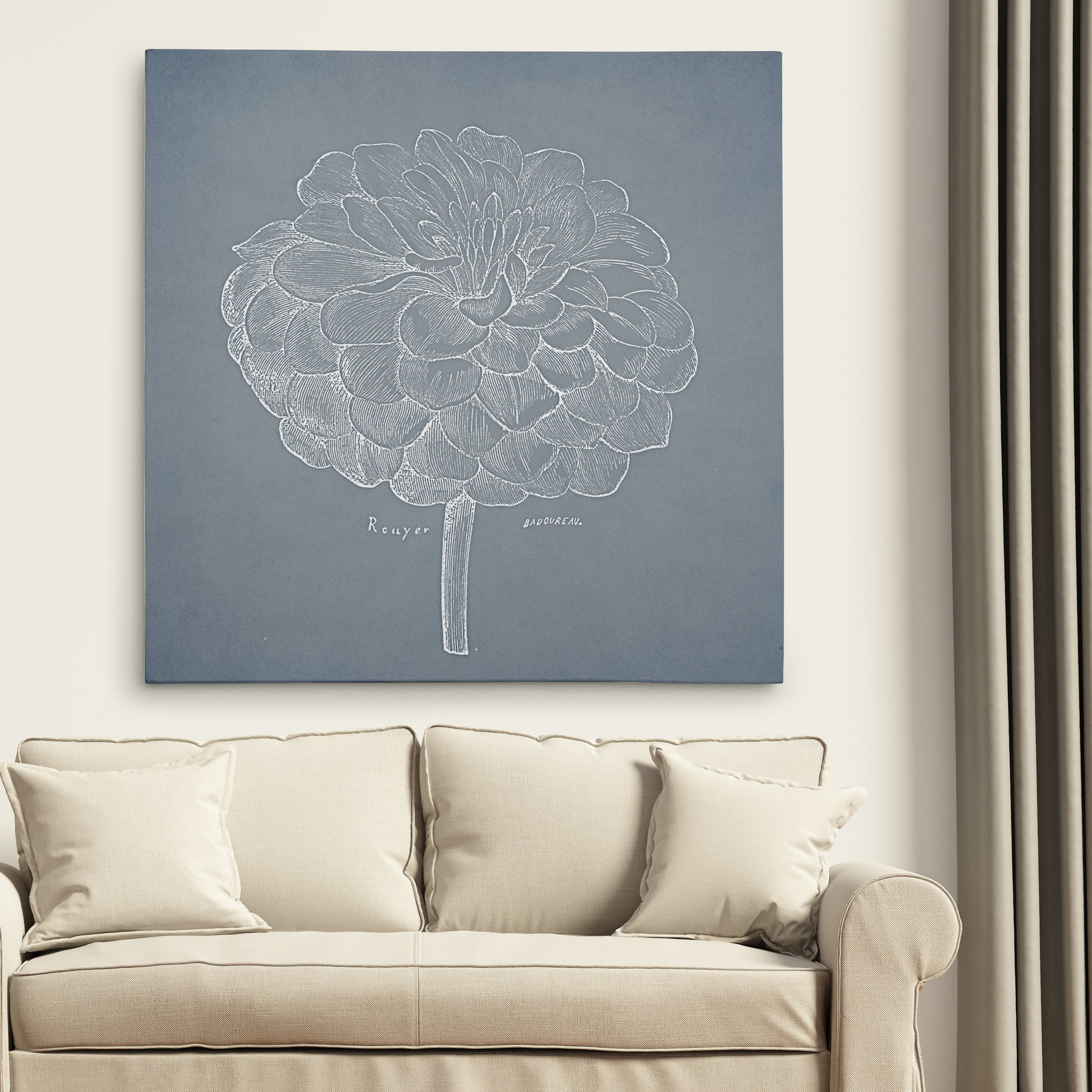Wexford Home 'Dusty Floral Sketch I' Wall Art (24 x 24), ...
