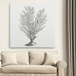 Wexford Home 'Coral Sketch Grey II' Gallery Wrapped Canvas