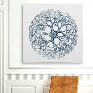 Wexford Home 'Coral Sketch Blue II' Wall Art