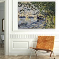 Wexford Home 'The Seine at Rouen' Canvas Wall Art