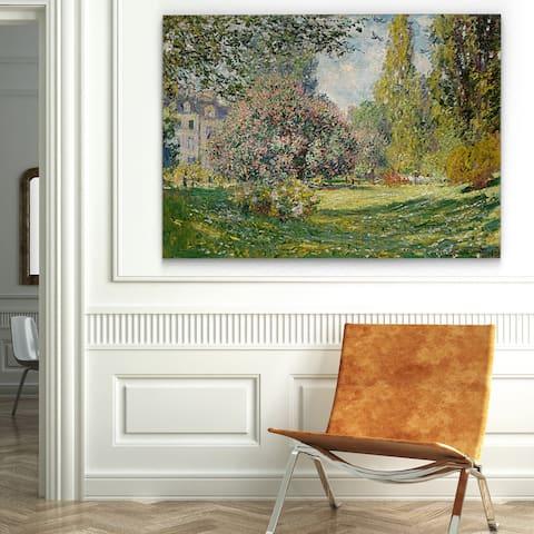 Wexford Home 'Parc Monceau, Paris' Gallery-wrapped Canvas