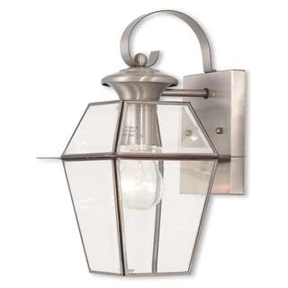 Livex Lighting Westover Brushed Nickel Brass Single-light Outdoor Lantern