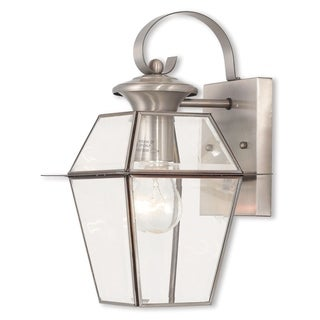 Livex Lighting Westover Brushed Nickel Brass Single-light Outdoor Lantern