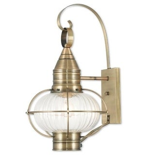 Livex Lighting Newburyport Antique Brass 1-light Outdoor Wall Lantern