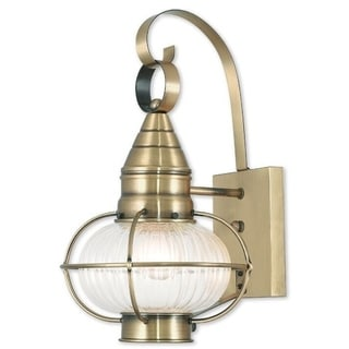 Livex Lighting Newburyport antique Bronze Single-Light Outdoor Wall Lantern