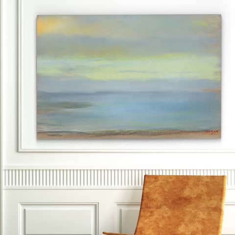 Claude Monet 'Marine Sunset' Gallery-wrapped Canvas Art