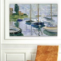Monet 'Barques au Repos' Reproduction Canvas Wall Art