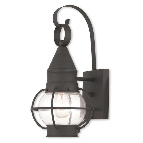 Livex Lighting Newburyport Black Single-light Outdoor Wall Lantern