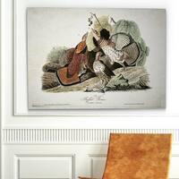 'Aviary Drawing V' Canvas Wall Art