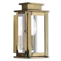 Livex Lighting Princeton Single-light Antique Brass Outdoor Wall Lantern