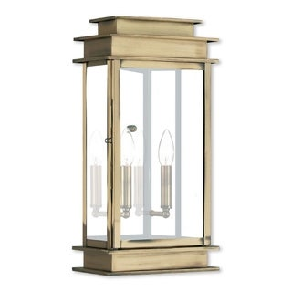 Livex Lighting Princeton Gold Color Antique Bronze Finish 2-light AB Outdoor Wall Lantern