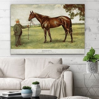 Wexford Home 'Equine Drawing II' Wrapped Canvas Wall Art