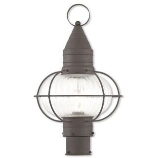 Livex Lighting Newburyport, 1 Light, Bronze Outdoor Post Lantern