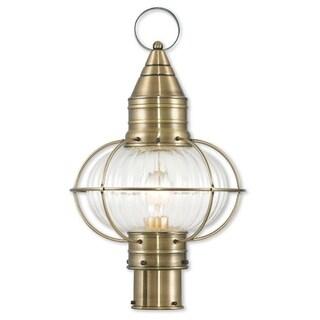 Livex Lighting Newburyport Antique Brass Single-light Outdoor Post Lantern