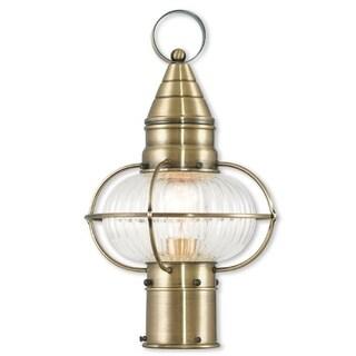 Livex Lighting Newburyport Antique Brass 1-light Outdoor Post Lantern