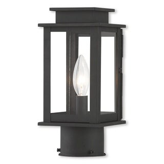 Livex Lighting Princeton, 1 Light, Black Outdoor Post Lantern