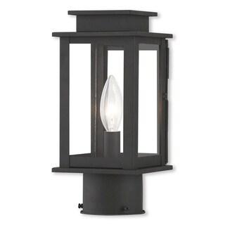 Livex Lighting Princeton, 1 Light, Black Outdoor Post Lantern
