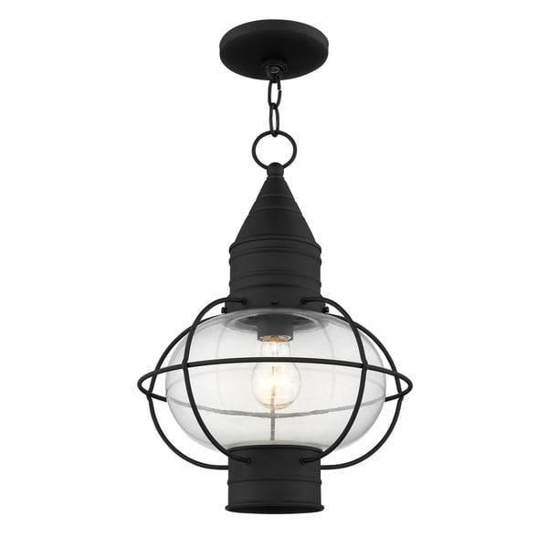 Livex Lighting Newburyport Black 1-light Outdoor Chain Lantern