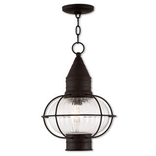 Livex Lighting Newburyport Bronze Single-light Outdoor Chain Lantern