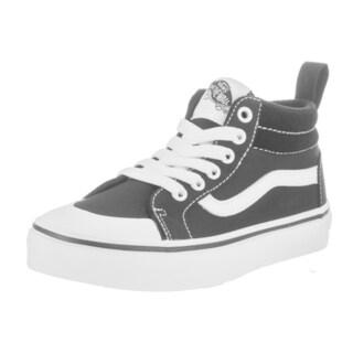 Vans Kids Racer Mid (Canvas) Black Canvas Skate Shoes