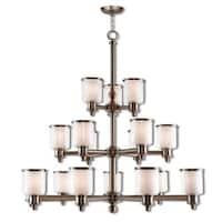 Livex Lighting Middlebush 18-light BN Foyer Chandelier - Silver